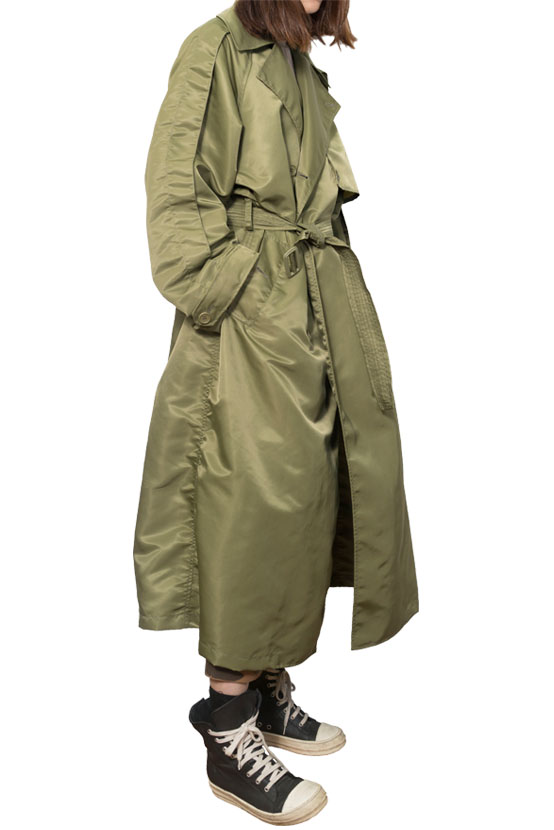 S/S17 AIR DOUBLE TRENCH COAT