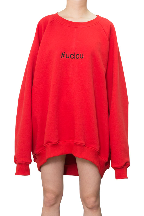 F/W17 HARRY RAGLAN OVERSIZED PULLOVER(RED)