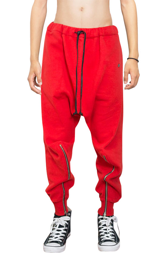 F/W17 HARRY ZIPPER LOUNGE PANTS(RED)