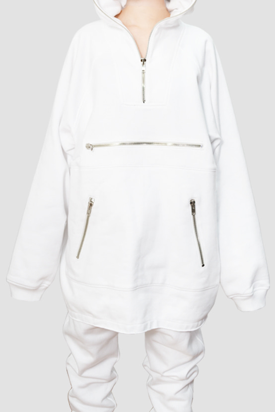 F/W17 OSCA ANORAK SWEAT SHIRT(WHITE)