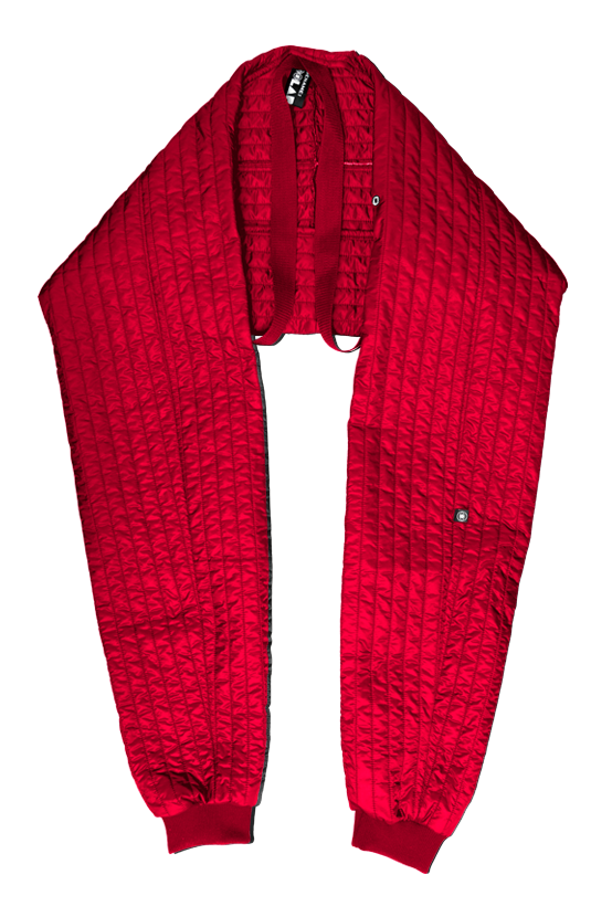 F/W17 SHELL SLEEVE SCARF(RED)