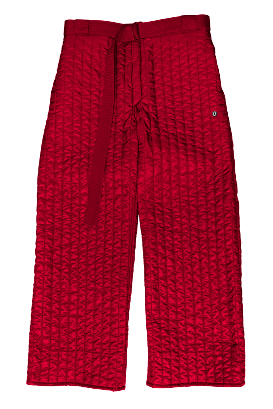 F/W17 SHELL WIDE LONG PANTS(RED)