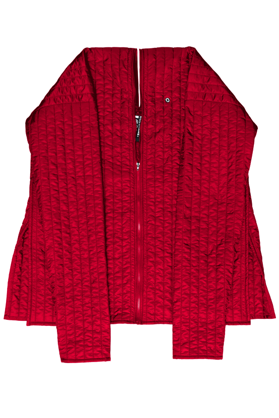 F/W17 SHELL ZIP UP CARDIGAN(RED)