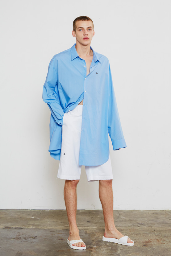 S/S18 KCORONA OVERSIZED SHIRT(BLUE)