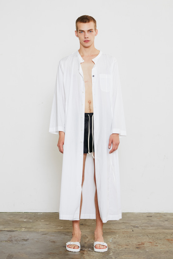 S/S18 KCORONA LONG STRING  SHIRT(WHITE)