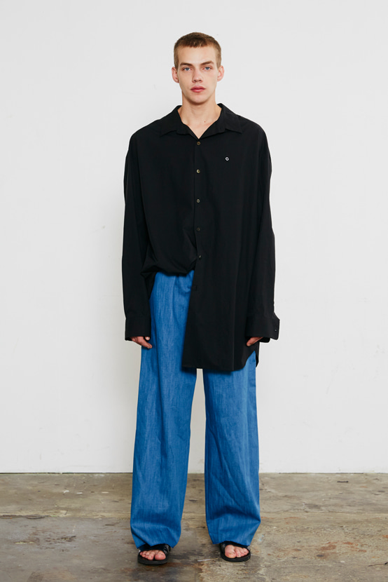 S/S18 KCORONA OVERSIZED SHIRT(BLACK)