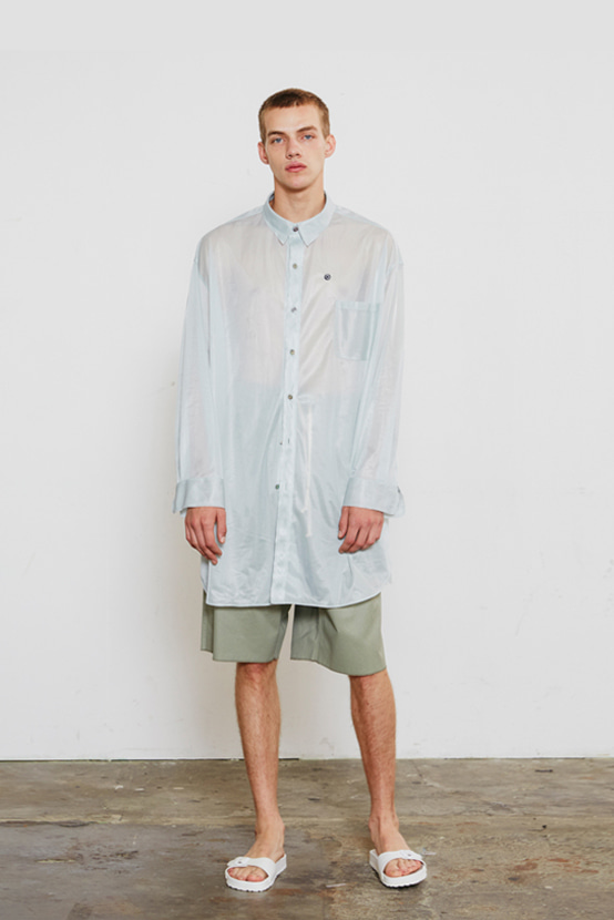 S/S18 TRICO BUTTON DOWN SHIRT(CLOUD)