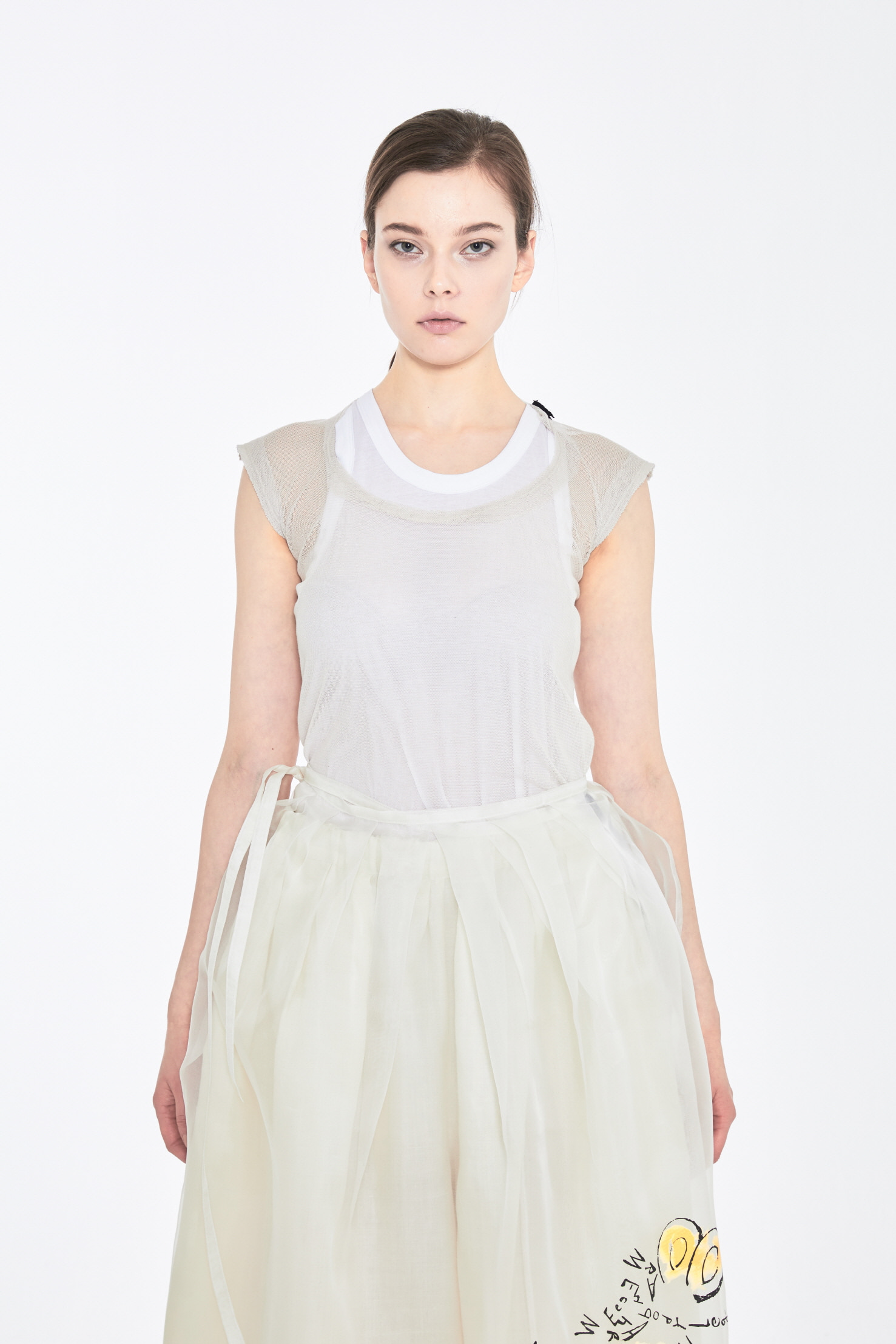 S/S19 DAL SLEEVELESS TOP_BEIGE