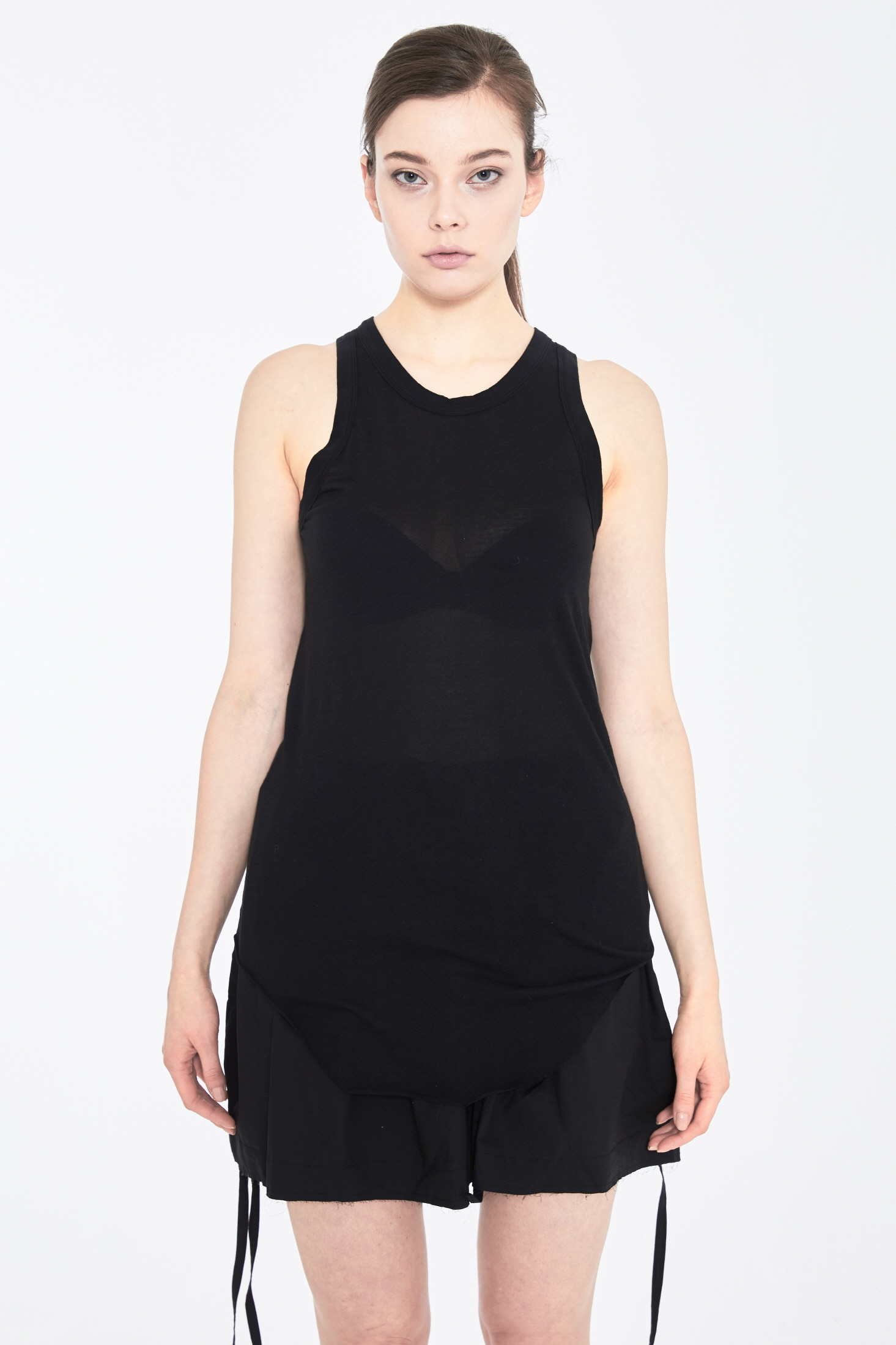 DUBAE SLEEVELESS TOP_BLACK