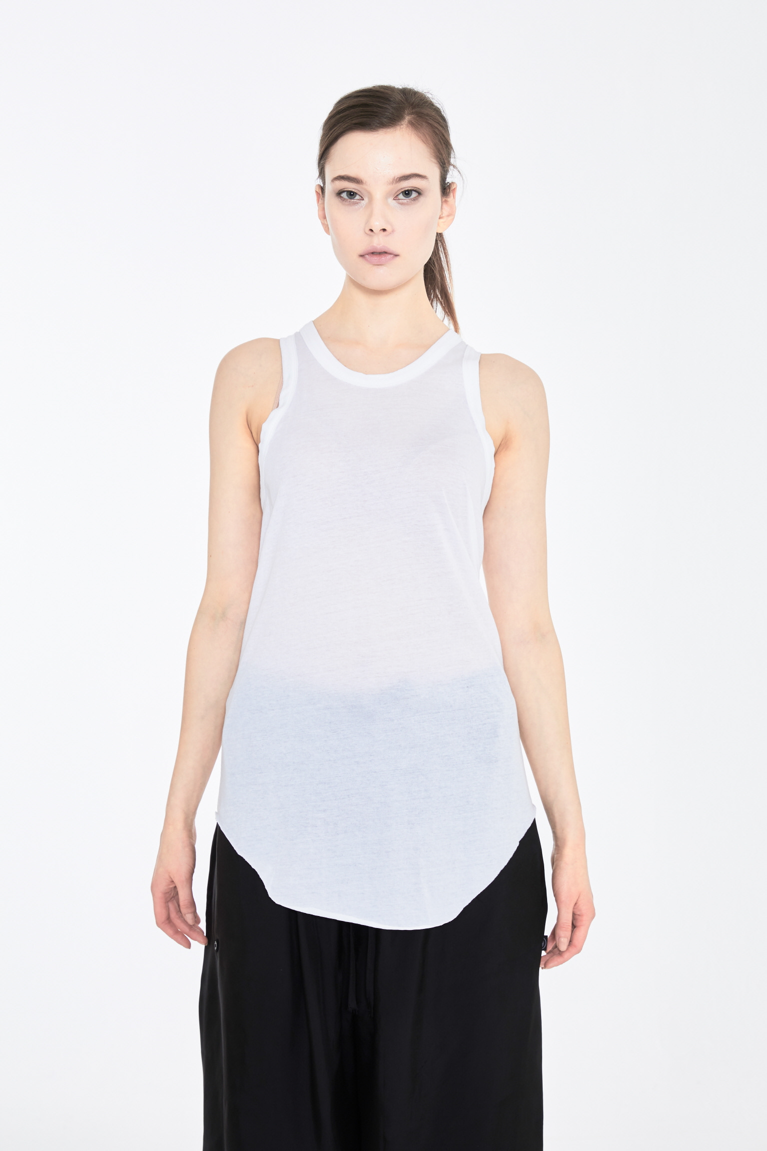 DUBAE SLEEVELESS TOP_WHITE