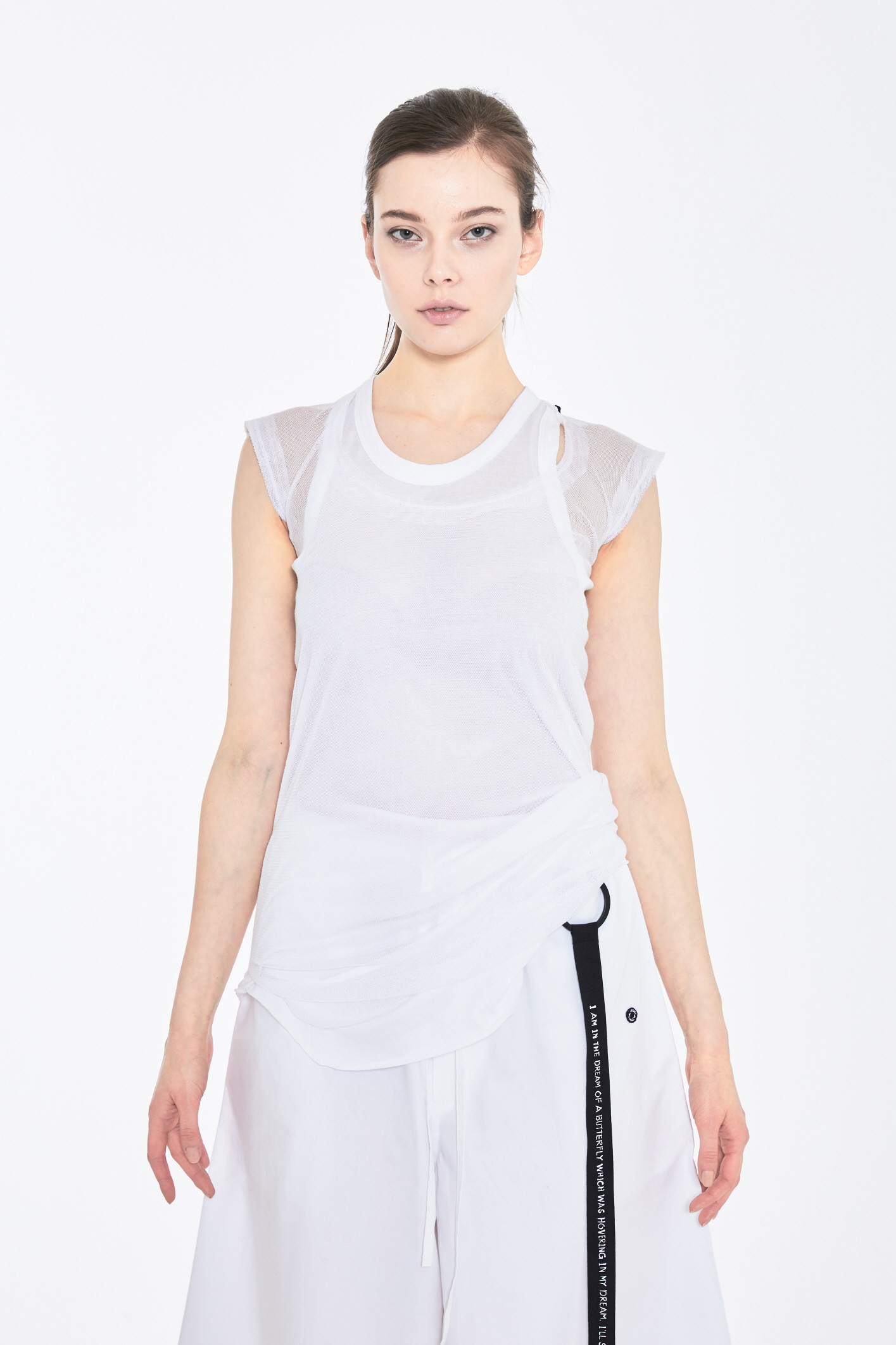 S/S19 DAL SLEEVELESS TOP_WHITE