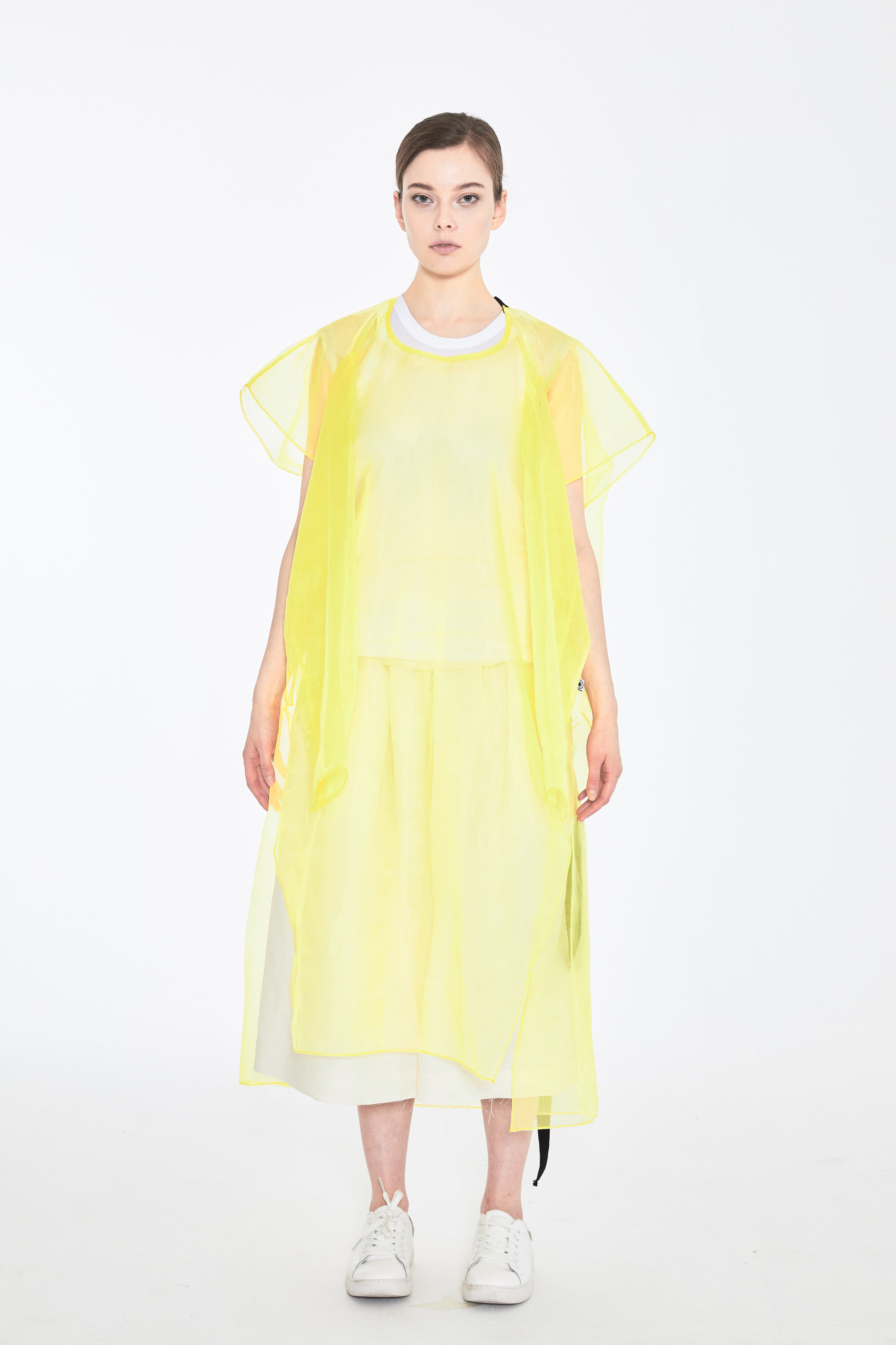 NA 4ARMS LONG DRESS_YELLOW